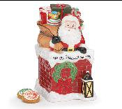 75048181 - Christmas Eve Santa Cookie Jar