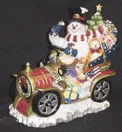 X64036 - Snowman In Car Cookie Jar