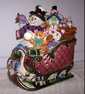 X60450-2 - Snowman in Sleigh Cookie Jar