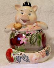 X60648 - Clear Pig Cookie Jar