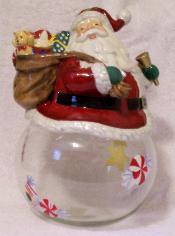 X60667 - Santa with Gifts Cookie Jar