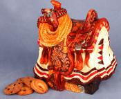 40CJ7810 - Western Saddle Cookie Jar