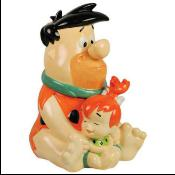 5021708 - Fred & Pebbles Cookie Jar