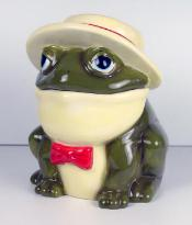 30203 - Southern Frog With Straw Hat Cookie Jar
